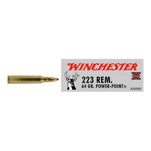 Winchester Ammo Winchester Ammo 223 Remington 64gr, Super-X, Power-Point, (Per 20) X223R2