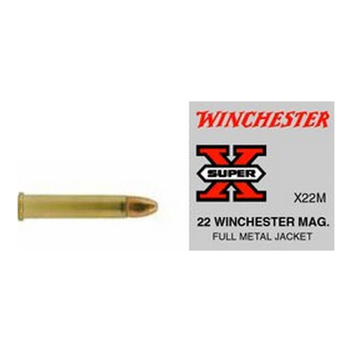 Winchester Ammo 22 Winchester Magnum 22 Win Mag, 40gr, Super-X  Full Metal Jacket, (Per 50)