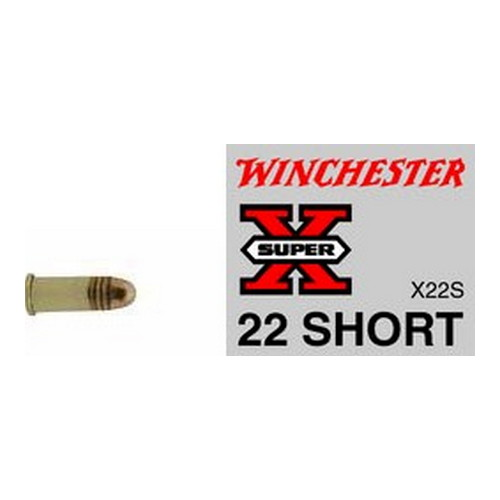 Winchester Ammo Winchester Ammo 22 Short 22 Short, 29gr Super-X Lead Round Nose (Per 50) X22S