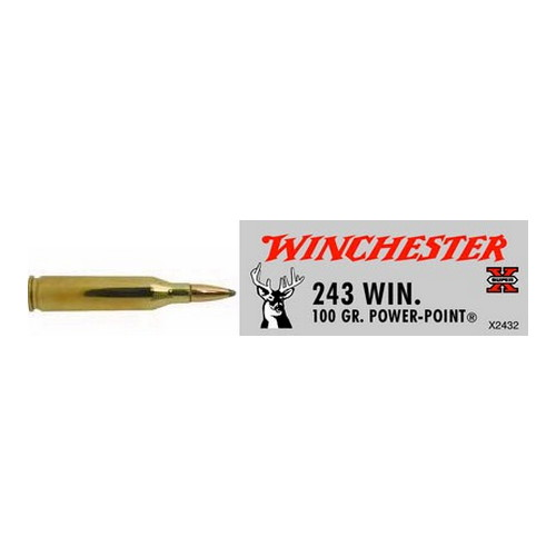 Winchester Ammo Winchester Ammo 243 Winchester 243 Win, 100grain, Super-X Power-Point, (Per 20) X2432