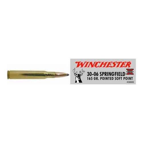 Winchester Ammo Winchester Ammo 30-06 Springfield 30-06 Springfield, 165grain, Super-X Pointed Soft Point, (Per 20) X30065