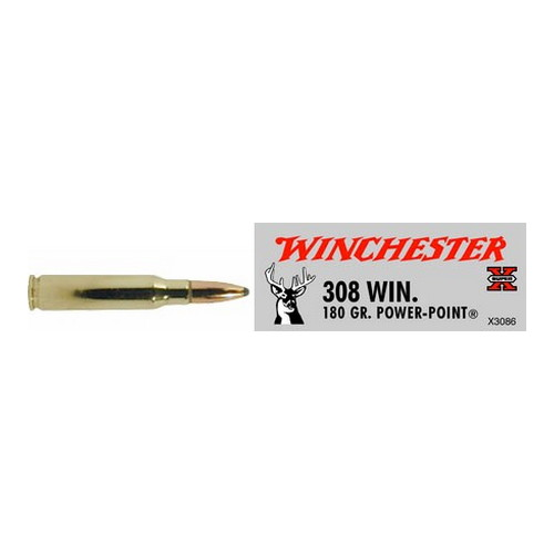 Winchester Ammo Winchester Super-X 308 Winchester 180 Grain Power Point (Per 20) X3086