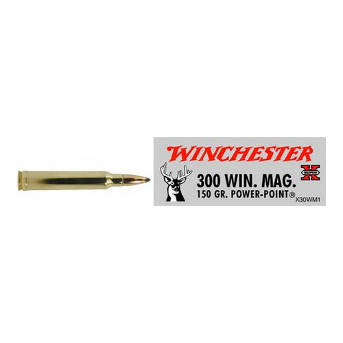 Winchester Ammo 300 Winchester Magnum 300 Win Mag, 150gr, Super-X Power-Point, (Per 20)