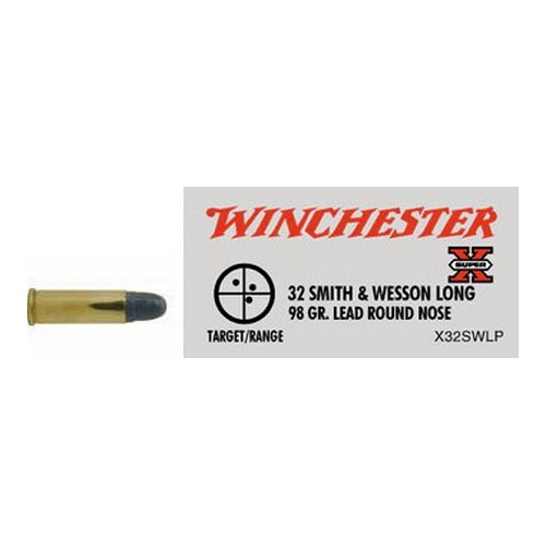 Winchester Ammo Winchester Ammo 32 Smith & Wesson Long, 98 gr, Lead Round Nose, (Per 50) X32SWLP
