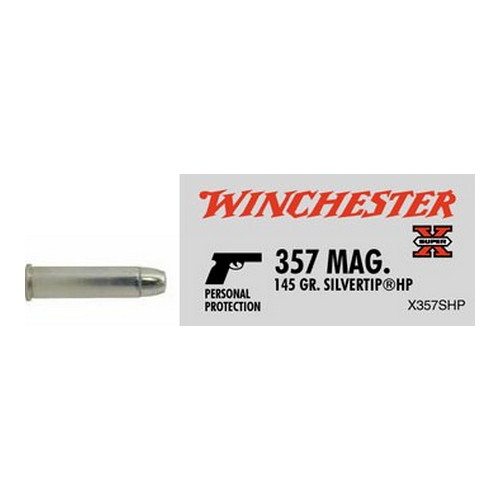Winchester Ammo 357 Magnum 357 Mag, 145gr, Super-X Silvertip Hollow Point, (Per 50)
