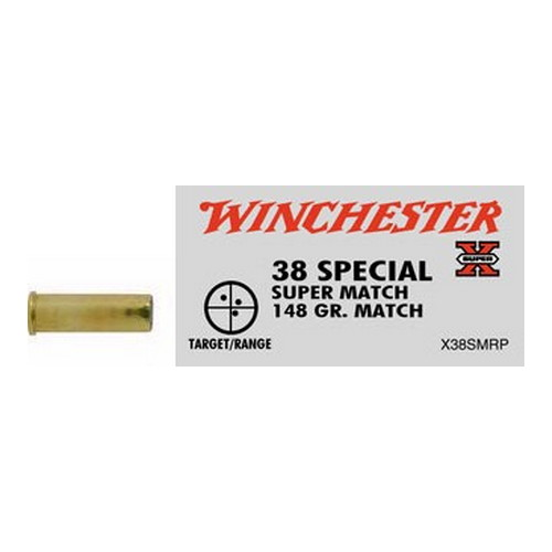 Winchester Ammo 38 Special 38 Special, 148gr, Super-X Match, (Per 50)