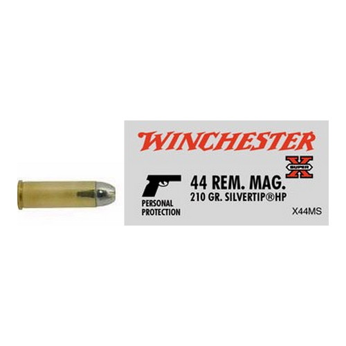 Winchester Ammo Winchester Ammo 44 Remington Magnum 44 Remington Mag, 210gr, Super-X Silvertip Hollow Point, (Per 20) X44MS