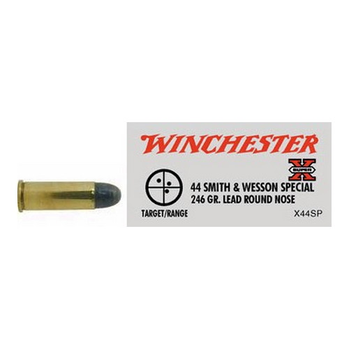 Winchester Ammo Winchester Ammo 44 S&W Special 44 S&W Special, 246gr, Super-X Lead Round Nose, (Per 50) X44SP