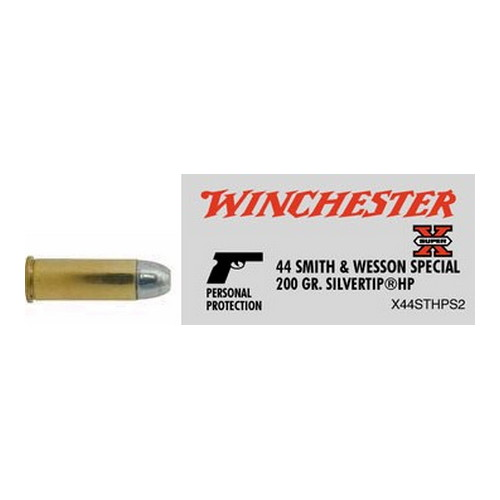 Winchester Ammo Winchester Ammo 44 S&W Special 44 S&W Special, 200gr, Super-X Silvertip Hollow Point, (Per 20) X44STHPS2
