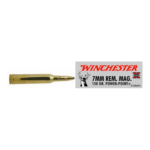 Winchester Ammo Winchester Ammo 7mm Magnum 7mm Mag, 150gr, Super-X Power-Point, (Per 20) X7MMR1