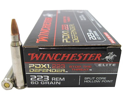 Winchester Ammo 223 Remington 60 Gr, PDX1 Defender/20