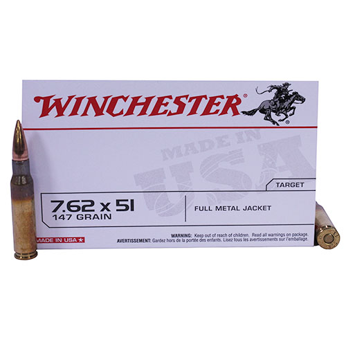 Winchester Ammo 7.62x51 NATO 147gr Full Metal Jacket (Per 20)