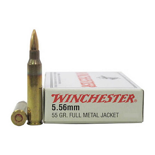 Winchester Ammo 5.56mm, 55gr., Full Metal Jacket,  (Per 20)