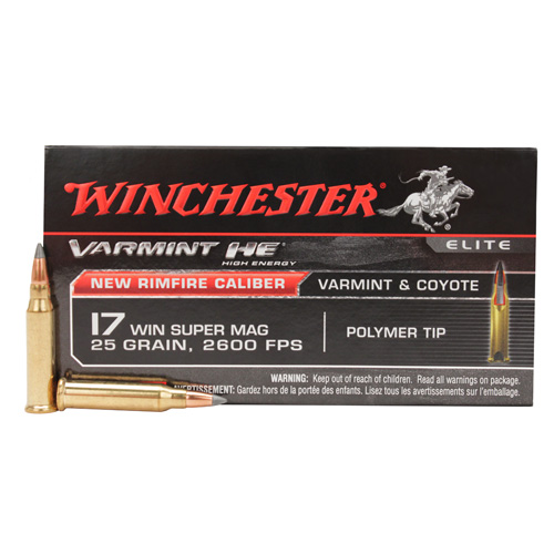 Winchester Ammo Winchester Ammo 17 WSM Ammunition Varmint HE, VMAX 25 Gr (Per 50) S17W25