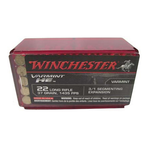 Winchester Ammo 22LR HP Varmint HE /50