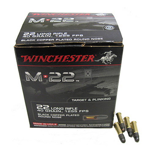 Winchester Ammo 22 Long Rifle 40 Gr, M22, Bulk Pack/1000