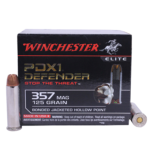 Winchester Ammo Winchester Ammo 357 Magnum 125 Gr, PDX1 Bonded/20 S357MPDB