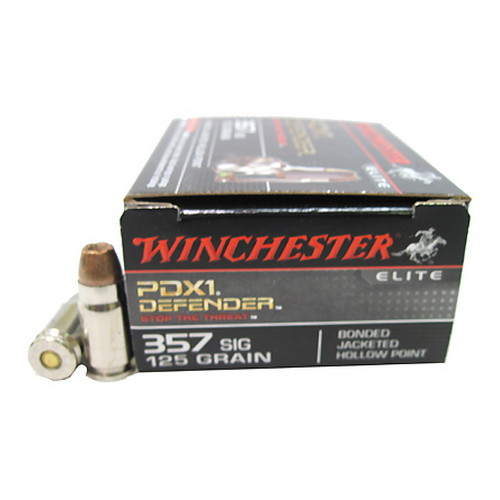 Winchester Ammo Winchester Ammo 357 Sig 125 Gr, PDX1 Bonded/20 S357SPDB