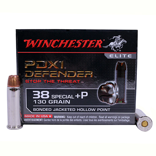 Winchester Ammo Winchester PDX1 Defender 38 Special +P 130 Grain Bonded JHP (Per 20) S38PDB