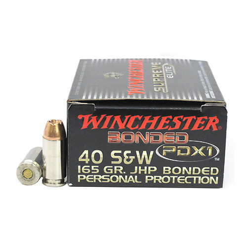 Winchester Ammo Winchester Ammo 40 Smith & Wesson 165gr Bonded PDX1 (Per 20) S40SWPDB