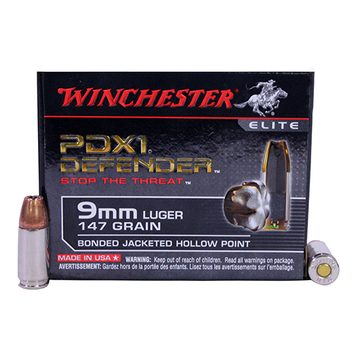Winchester Ammo Winchester Ammo 9mm Luger 9mm Luger 147gr PDX1 /20 S9MMPDB1