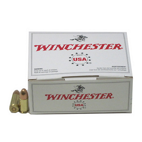 Winchester Ammo 9mm Luger 9mm Luger, 115gr, USA Full Metal Jacket, (Per 100)