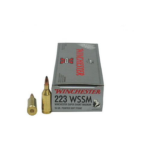 Winchester Ammo 223 Winchester Super Short Magnum 223 WSSM, 55gr,Super-X Pointed Soft Point, (Per 20)