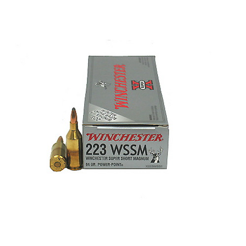 Winchester Ammo 223 Winchester Super Short Magnum 223 WSSM, 64gr,Super-X Power-Point, (Per 20)
