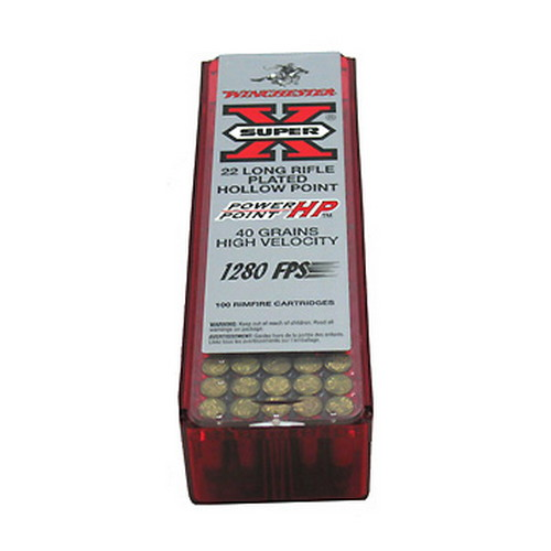 Winchester Ammo Winchester 22 Long Rifle Super X Power Point 40gr (Per 100) X22LRPP1