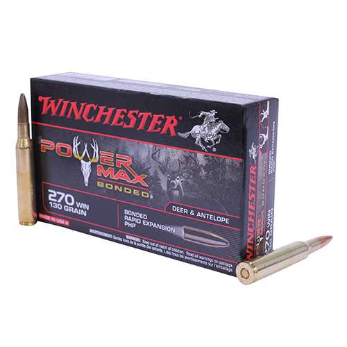 Winchester Ammo 270 Winchester 130gr Power Max Bonded (Per 20)