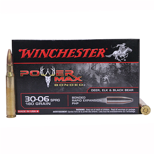 Winchester Ammo Winchester Ammo 30-06 Springfield 180gr PowerMax Bonded/20 (20 Rounds Per Box) X30064BP
