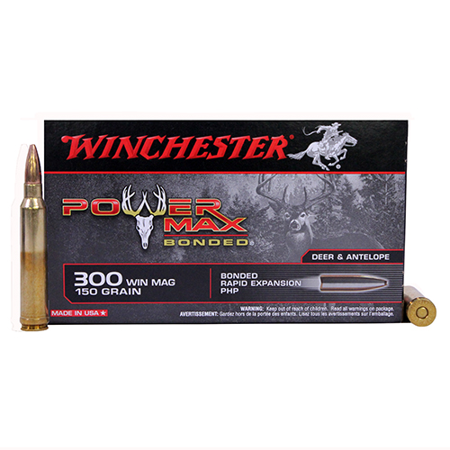 Winchester Ammo 300 Winchester Magnum 150gr Power Max Bonded (Per 20)