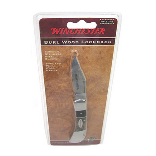 Winchester Knives Winchester Knives Burl Wood Knives 2.5