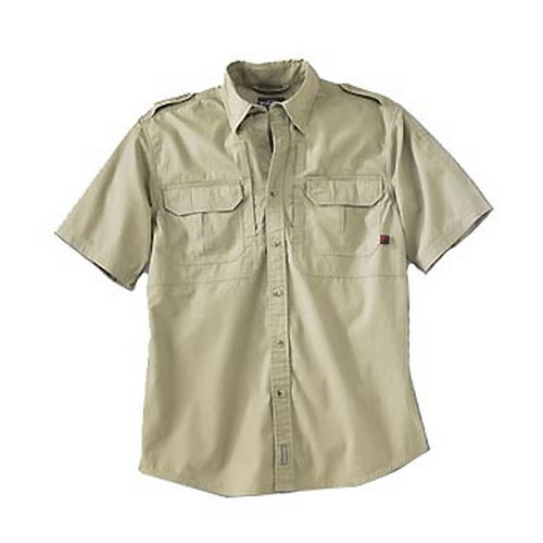 Woolrich Men's Short Sleeve Shirt Khaki Medium