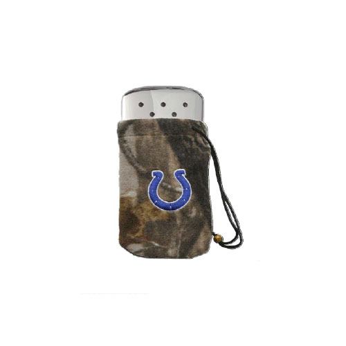 Zippo NFL/Realtree Logo Bag, w/Chrome Hand Warmer Indianapolis Colts