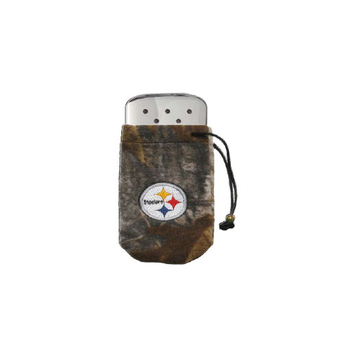 Zippo Zippo NFL/Realtree Logo Bag, w/Chrome Hand Warmer Pittsburgh Steelers 40304
