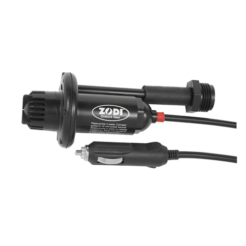 Zodi Outback Gear 12V Pump w/12V Plug and Wash Down Hose